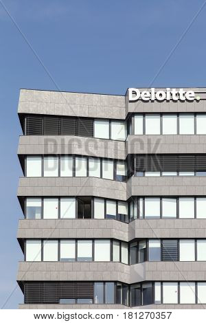 Lyon, France - March 15, 2017: Deloitte building in Lyon, France. Deloitte is one of the Big Four accounting firms and the largest professional services network in the world by revenue