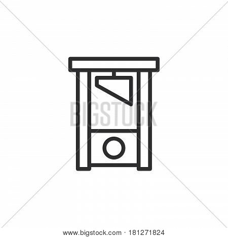 Guillotine line icon outline vector sign linear style pictogram isolated on white. Symbol logo illustration. Editable stroke. Pixel perfect