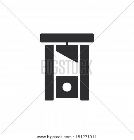 Guillotine icon vector filled flat sign solid pictogram isolated on white. Symbol logo illustration. Pixel perfect