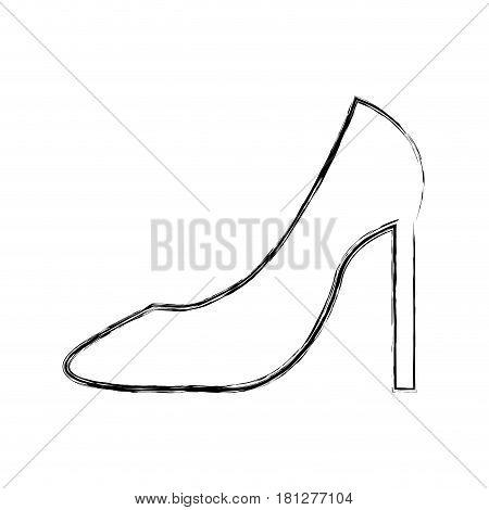 female shoes heel icon vector illustration design