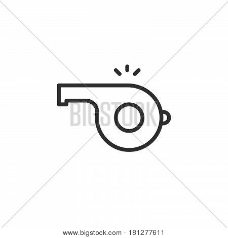 Whistle noise line icon outline vector sign linear style pictogram isolated on white. Symbol logo illustration. Editable stroke. Pixel perfect