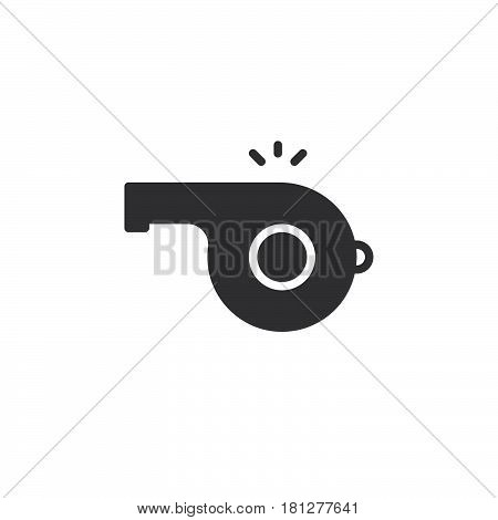 Whistle noise icon vector filled flat sign solid pictogram isolated on white. Symbol logo illustration. Pixel perfect