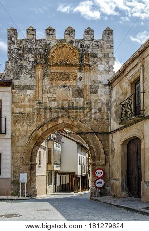 Puerta de aguilera in the town of Berlanga de Duero Soria. Spain