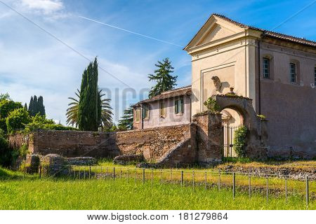 Vigna Barberini - ancient villa on the Palatine Hill in Rome, Italy