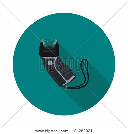 coll flat icon Taser in vector format