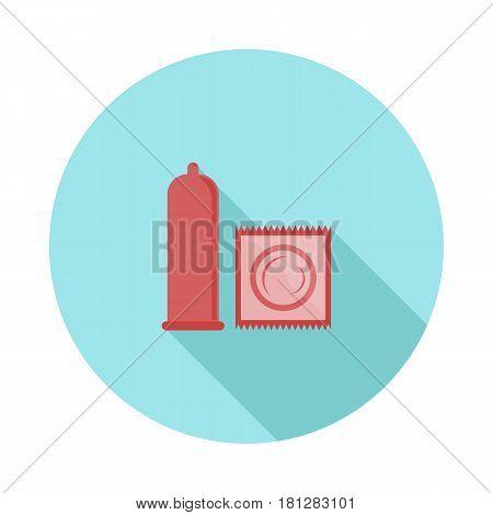 flat icon contraceptive condom in vector format