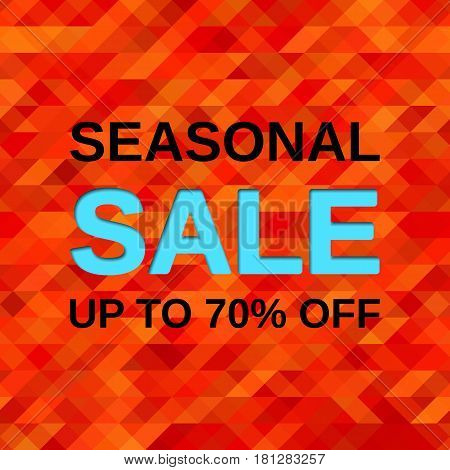Sale banner. Vector web sticker. Seasonal offer discount label. Template design background.