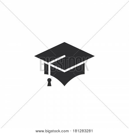 Graduation Cap Icon Vector , Mortarboard Solid Logo, Pictogram Isolated On White, Pixel Perfect Illu