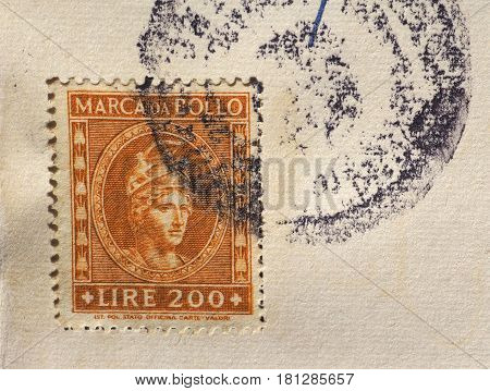 Italian Tax Stamp In Milan