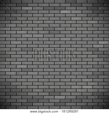 Grey brick wall. Industrial construction background. Stock vector illustration.