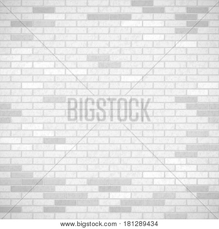 White brick wall. Industrial construction background. Stock vector illustration.