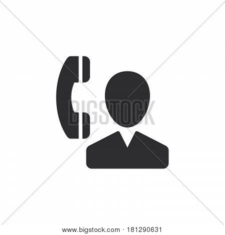 User and phone contact icon vector filled flat sign solid pictogram isolated on white. Symbol logo illustration. Pixel perfect