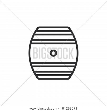 Oak Cask line icon outline vector sign linear style pictogram isolated on white. Symbol logo illustration. Editable stroke. Pixel perfect