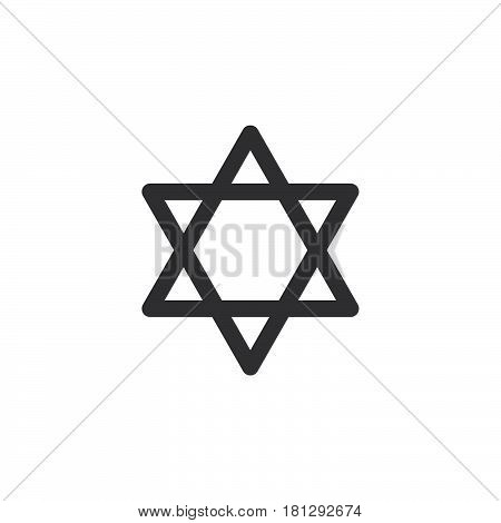 Star of David icon vector filled flat sign solid pictogram isolated on white. Symbol logo illustration. Pixel perfect