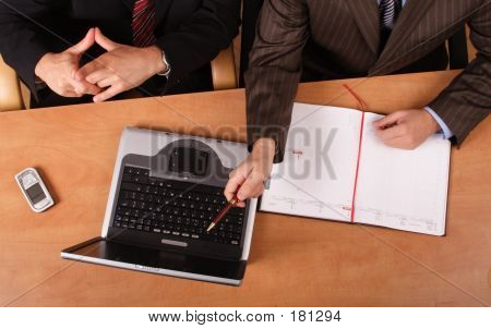 Presentation - 2 Men Working On The Laptop