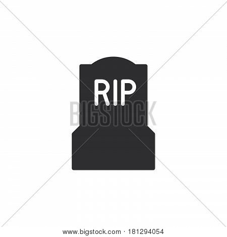 Tomb headstone icon vector filled flat sign solid pictogram isolated on white. Symbol logo illustration. Pixel perfect