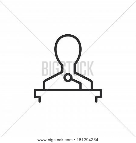 Speaker line icon outline vector sign linear style pictogram isolated on white. Lecture symbol logo illustration. Editable stroke. Pixel perfect