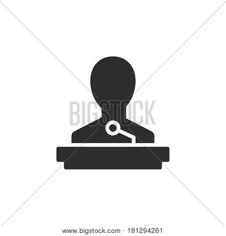 Speaker icon vector filled flat sign solid pictogram isolated on white. Lecture symbol logo illustration. Pixel perfect