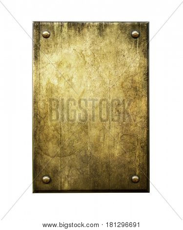 Grunge bronze. Metal background. Golden plaque. Bronze plaque.