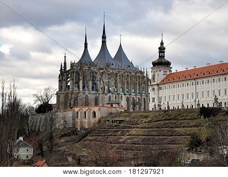 old casthedral, city Kutna hora, Czech republic, Europe
