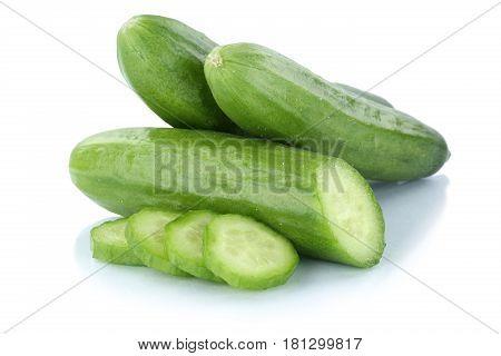 Cucumbers Cucumber Sliced Slice Vegetable Isolated
