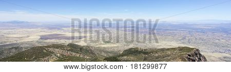 An Aerial Panorama of Sierra Vista Arizona from Carr Canyon in the Huachuca Mountains