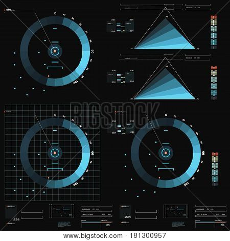 Futuristic Virtual Graphic Touch User Interface