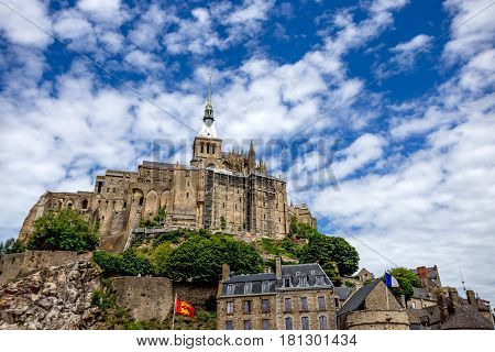 Beautiful view to Mont Saint-Michel abbey, Normandy, France