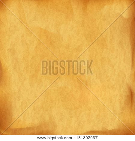 Texture of old vintage parchment. Stock vector illustration.