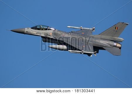 Belgium Air Force F16 Fighter Jet Airplane