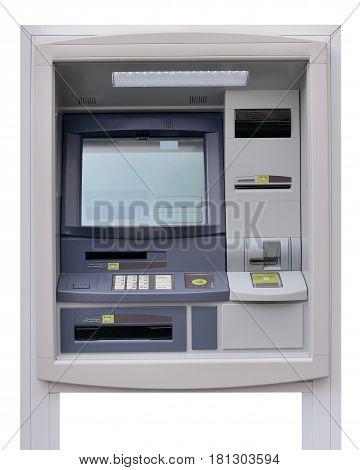 image of ATM machine isolated on white background