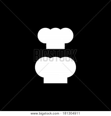 Chef hat silhouette isolated set. White hat chef cook for logo.
