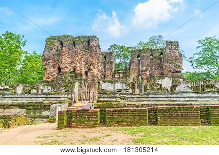 The Old Palace In Polonnaruwa