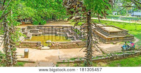 Panorama Of Polonnnaruwa Royal Baths