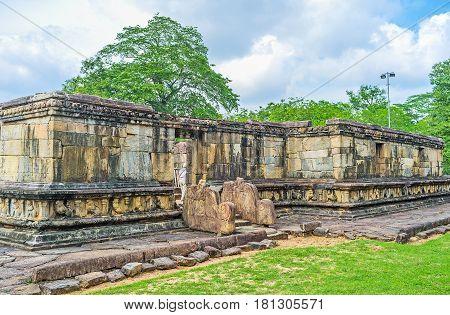 The Ruins Of Hetadage Of Polonnaruwa