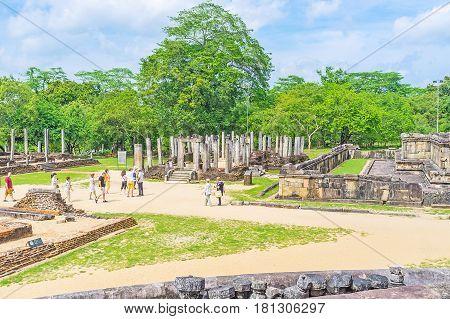 The Atadage Of Polonnaruwa