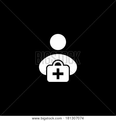 first aid kit icon. Vector on white background, eps 10