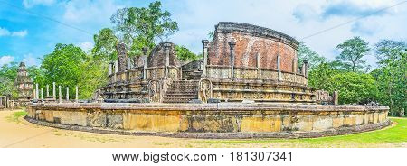The Ruined Stupa House In Polonnaruwa