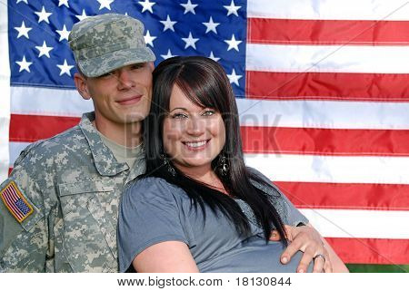 Young Patriotic Couple