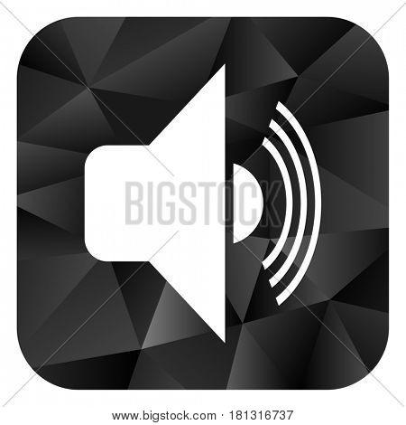 Volume black color web modern brillant design square internet icon on white background.
