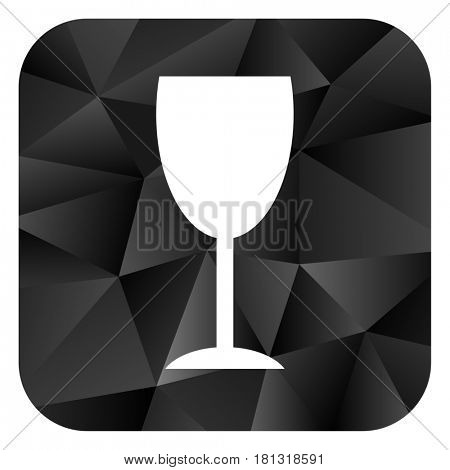 Alcohol  black color web modern brillant design square internet icon on white background.