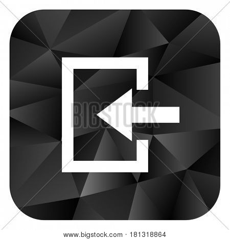 Enter black color web modern brillant design square internet icon on white background.