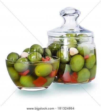 Olives In A Glass , Preserved Vegetables Composition