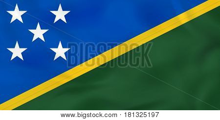 Solomon Islands Waving Flag. Solomon Islands National Flag Background Texture.