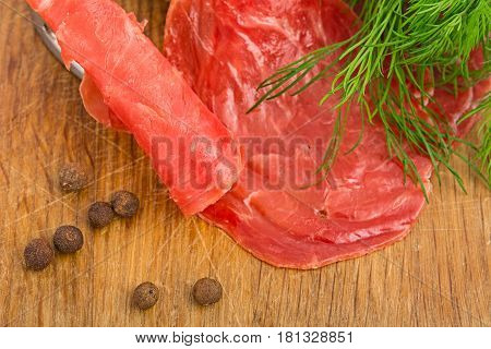 Still Life With Slices Of Smoked Meat