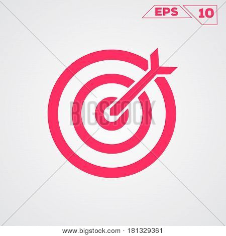 Target circle icon. Flat Design(for Logos Flyers Covers Posters Banner)