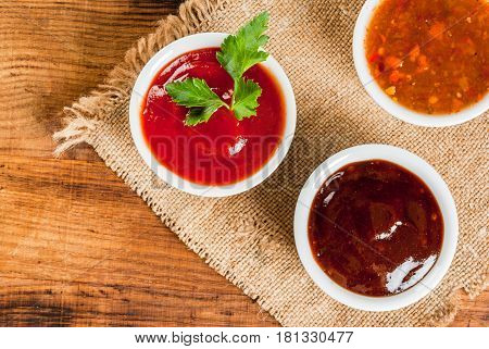 Three Kinds Of Red Tomato Sauce