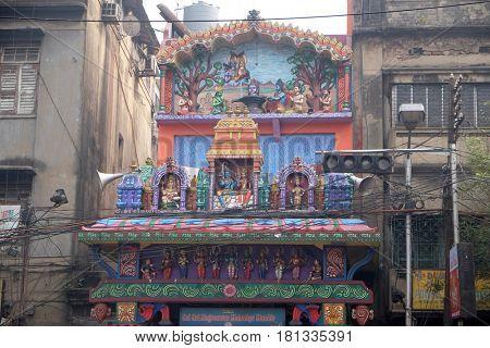 KOLKATA, INDIA - FEBRUARY 10: Sri Sri Nagreswar Mahadev Mandir Hindu Temple, 35, Strand Rd, Fairley Place, B B D Bagh in Kolkata, India on February 10, 2016.