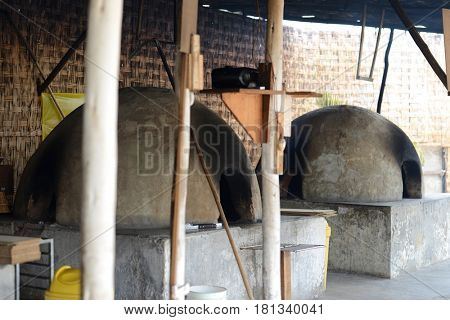 Traditional rustic oven for baking bread in Peru, South America