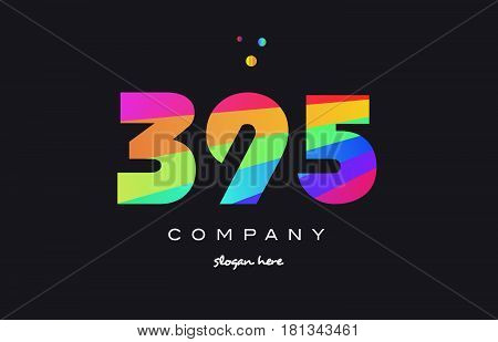 395 Colored Rainbow Creative Number Digit Numeral Logo Icon